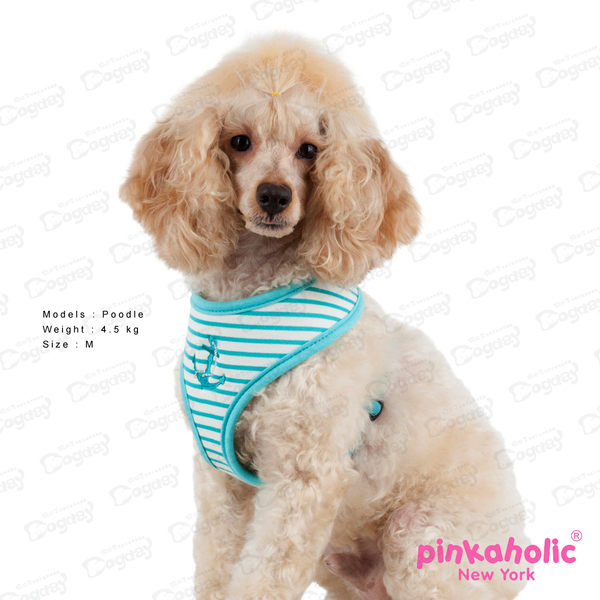 狗日子紐約《Pinkaholic》耀眼海洋胸背A款 S、M號 桃紅/藍綠/海軍藍 舒適透氣