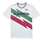 KAPPA 義大利型男吸濕排汗速乾中性針織圓領衫 白 341732W001