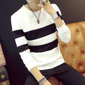 男士衛生衣長袖T恤 韓版上衣打底衫潮流男裝帥氣衣服學生秋季衛衣男 免運