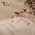 Queen Shop【07030620】金屬環形耳針式耳環四件套組*現+預*