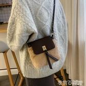 網紅同款毛毛斜挎包高級感洋氣單肩小包包女包新款2019百搭水桶包  茱莉亞
