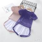 女童夏季套裝2020新款女童裝時髦套裝洋氣小孩衣服網紅兩件套潮裝 DR34448【美好時光】