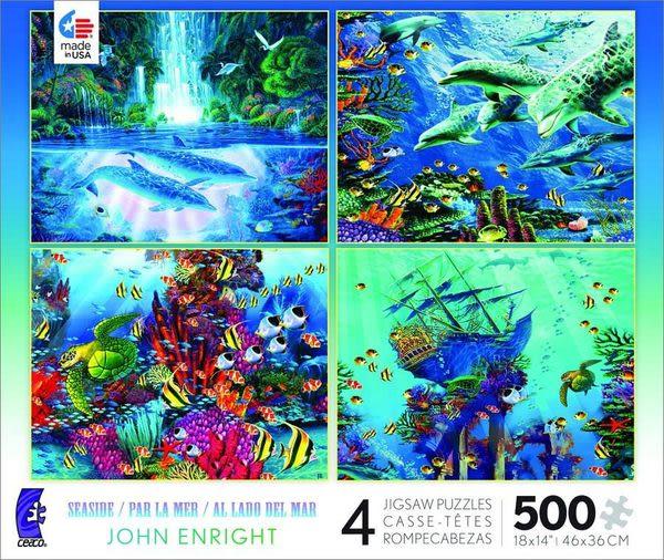 【美國Ceaco】4 in 1 John Enright SEASIDE (500片X4組)
