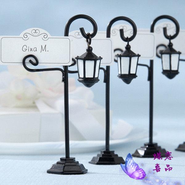 F0535 婚慶婚禮用品結婚布置會議布置 席位夾喜卡夾名片夾桌卡 花園神燈