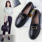 小皮鞋女學生韓版百搭秋冬季2019新款i...