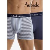 Aubade man-舒棉M-L平口褲(條紋2件組)
