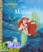 [106美國直購] 2017美國暢銷兒童書 The Little Mermaid (Disney Princess) (Little Golden Book) Hardcover