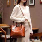 手提包包包春季新款網紅手提包女百搭氣質女神大包大容量真皮斜挎包 可然精品