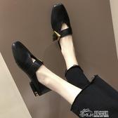 豆豆鞋 2019春款復古奶奶鞋平底豆豆鞋方頭淺口韓版瑪麗珍鞋