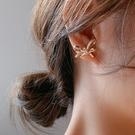 925銀針 交叉水鑽蝴蝶結 耳飾