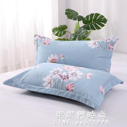 加厚100%純棉枕套一對裝48x74cm全棉枕頭套大號家用 單雙人枕頭皮【果果新品】