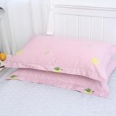 水星家紡100%全棉枕套單雙人學生宿舍枕芯套48x74cm枕頭套一對裝 poly girl