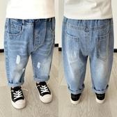 牛仔褲嬰兒破洞牛仔褲褲子幼兒春裝春秋兒童童裝小童寶寶潮款洋氣X1623 新品