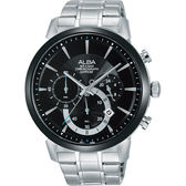 ALBA雅柏 Prestige 酷流行計時手錶-黑/44mm VD53-X295D(AT3D25X1)