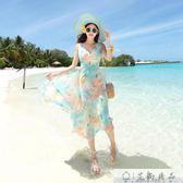 沙灘裙雪紡海邊度假連身裙-艾尚精品 艾尚精品