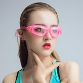 泳鏡 女士高清防水防霧游泳鏡 平光透明男成人兒童游泳裝備