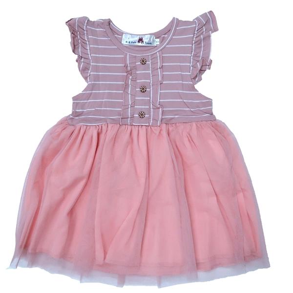 條紋棉長版T 無袖洋裝 [10324] RQ POLO 小童 5-17碼 童裝 現貨