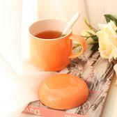 創意蘑菇馬克杯子帶蓋勺 簡約大容量牛奶杯早餐情侶咖啡杯