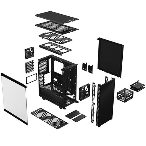 Fractal Design Define 7 Compact Dark Tempered Glass 強化玻璃側板 ATX 電腦機殼 FD-C-DEF7C-02