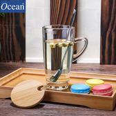 萬聖節狂歡   ocean進口馬克杯玻璃水杯帶蓋勺咖啡杯茶杯辦公室杯子喝水牛奶杯【居享優品】