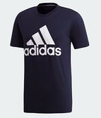 Adidas 男款墨藍色大logo短袖上衣-NO.DT9932