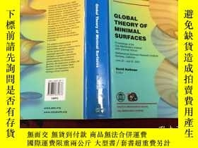 二手書博民逛書店Global罕見Theory Of Minimal Surfac