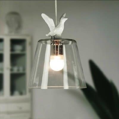 複古餐廳吧台北歐美式鄉村田園白色小鴨小鳥書房客廳單頭吊燈