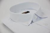 【金‧安德森】白色釘釦菱紋窄版長袖襯衫