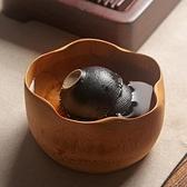 日式小號竹制茶洗功夫茶具茶道配件 茶水桶茶杯筆洗盆碗【聚寶屋】