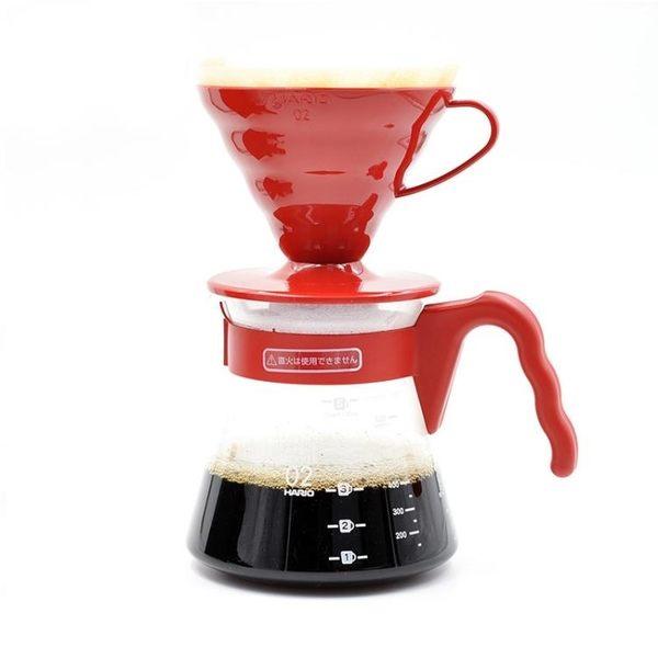 咖啡機 HARIO進口耐熱玻璃滴濾式套裝V60系列手沖咖啡套裝VCSD VDSP igo歐萊爾藝術館