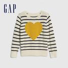 Gap女幼童 童趣織紋圓領針織衫 519105-象牙白