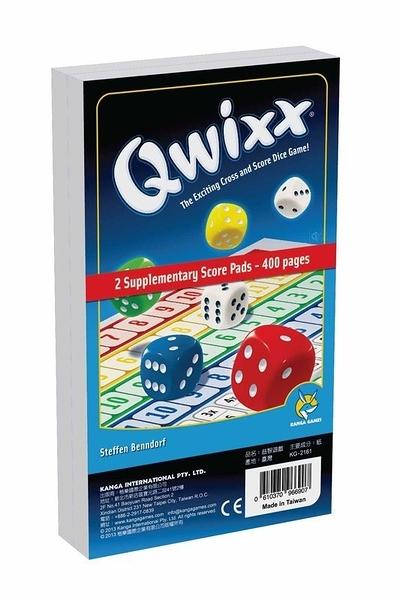 『高雄龐奇桌遊』 快可思 Qwixx 補充計分組 400pages ★正版桌上遊戲專賣店★