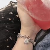 雙層桃心手鏈復古宮廷風愛心韓國氣質手飾品【毒家貨源】
