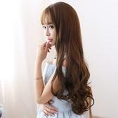 整頂假髮(長髮)-優質嚴選齊瀏海大波浪女假髮73ef34【時尚巴黎】