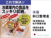日本製 冰箱斜口防髒好拿好收整理盒 收納盒 冰箱收納 廚房收納   《生活美學》