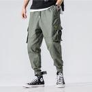 經典潮流美式軍裝口袋風格百搭休閒束腳褲
