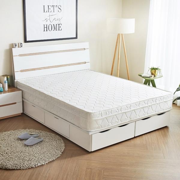 卡蘿天絲硬式5尺雙人獨立筒床墊/H&D東稻居家