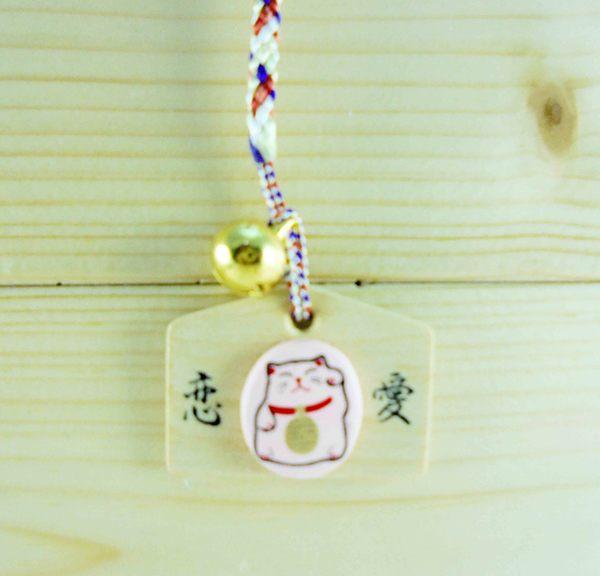【震撼精品百貨】招財貓_招き猫~招財貓手機吊飾/繩-御守吊飾-粉色