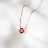 S925銀貓咪項鏈 鎖骨鏈少女心ins吊墜頸鏈玫瑰金色飾品Mandyc