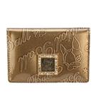 Crystal Ball星砂漆皮壓紋LOGO名片夾(亮金色)160001-2