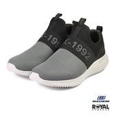 Skechers 新竹皇家 Wolfston 黑/灰色 織布 輕量回彈 運動休閒鞋 男款 NO.B0490