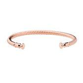 PH PAUL HEWITT / PH-BA-R-R / 德國製造 繩索造型 C字手環 拋光透亮 不鏽鋼手環 玫瑰金
