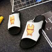 夏季輕便舒適涼鞋 休閒鋼鐵俠潮流一字拖鞋《印象精品》q120