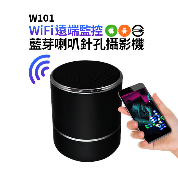*認證商品*W101藍芽喇叭針孔攝影機 WIFI針孔攝影機手機監看喇叭音箱監視器音響針孔遠端監看