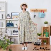 【Tiara Tiara】百貨同步新品aw  小v領滿版印花洋裝(米白/黑)