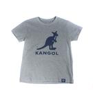 KANGOL 童裝 短袖 灰色 袋鼠大LOGO 6126500112 noG34