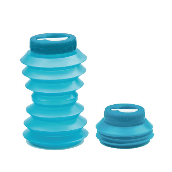 環保伸縮水壺(藍色) 500ml | OHYO