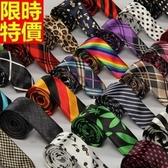 領帶 男士配件(任兩條)-時尚休閒花色箭頭型窄版手打領帶42色69d9【巴黎精品】