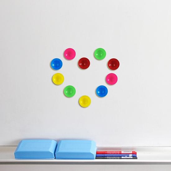 磁鐵 彩色磁鐵 冰箱磁鐵 白板磁鐵 冰箱貼 留言貼 彩色吸鐵 散裝磁鐵 彩色圓形磁鐵【K106】慢思行