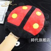 (交換禮物)usb發熱暖手滑鼠墊可拆洗冬天保暖滑鼠套毛絨加厚大暖手寶帶護腕